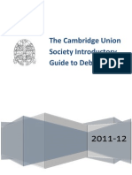 Cambridge Schools Bp Debating Guide 2011