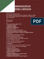 Administración de Sistema y Servicio-sintesis