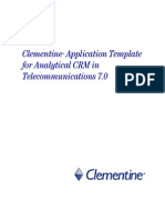 Clementine Application Template for Analytical CRM in Telecommunications 7.0