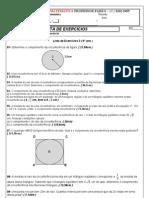 Atividades envolvendo Circunferência