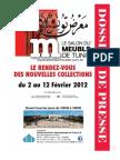 Dossier de Presse Salon Du Meuble 2012- (Sans Photos)