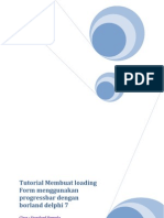 Tutorial Membuat Loading Form Menggunakan Progress Bar Dengan Borland Delphi 7