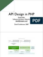 Zendcon 2007 API Design