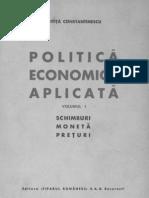 Mitita Constantinescu Politica Economica Aplicata- Vol. 1