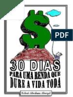 30 dias por uma renda vitalícia