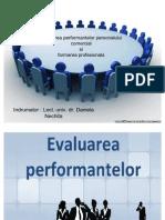 Evaluarea performantelor personalului