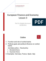 European Finance and Economy Lesson 3