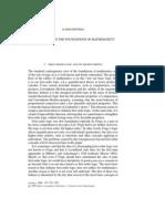 Jaakko Hintikka - A Revolution in the Foundations of Mathematics 1997