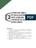 Comunicarea in Managementul Situatiilor Conflictuale Si de Criza