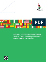 WACSOF Elections Observation Report (French)