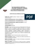Estructura Informe de Pasantias Vigencia Periodo 2011[1]