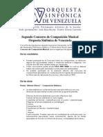 Segundo Concurso de Composicion Musical OSV