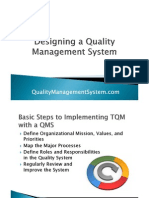 Designing a Quality Management System