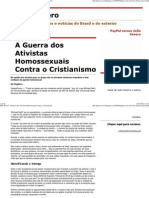 Julio Severo_ a Guerra Dos Ativistas Homossexuais Contra o Cristianismo
