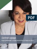 Corinne Lepage - Projet Presidentiel 2012
