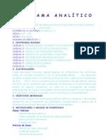 Programa Analitico