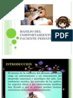 MANEJO DEL COMPORTAMIENTO DEL PACIENTE PEDIÁTRICO