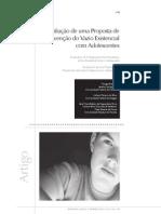 avaliação de uma proposta de prevenção de vazio existencial com adolescentes