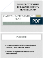 Radnor Cap Improvement Plan