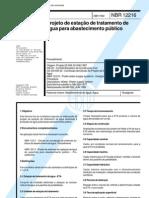 NBR 12216 - 1992 - NB 592 - Projeto de Estacao de Tratamento de Agua Para Abastecimento Publico
