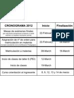 Cronograma 2012
