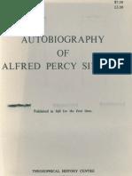Sinnett Alfred - Autobiography En