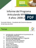 Informe Del Programa Articulando MYPERU-F Villaran-24Enero2012