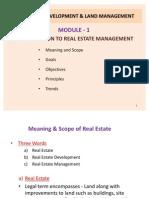 Module 1 Real Estate Development & Land Management