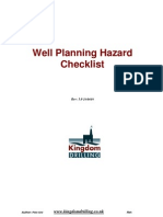 Well Planing Hazard Checklist