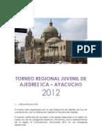 Bases Torneo Regional Juvenil Ica - Ayacucho