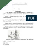 Prueba de diagnóstico Lenguaje y Comunicación 2012