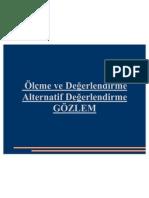 2010-2011 ÖLÇME VE DEĞERLENDİRME (Ertuğ CAN) - Alternatif Değerlendirme GÖZLEM