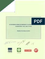 II Acuerdo Para El Empleo y La Negociacion Colectiva 12, 13 y 14