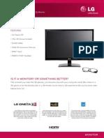 LG Monitor D2342P Spec Sheet