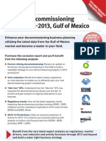 Offshore Decommissioning Report 2012-13, Gulf of Mexico