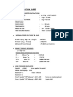 Brake Calculation Sheet