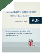 No. 3 Preliminary Textile Report - Möðruvellir, Iceland