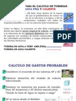 Principios para el cálculo de tuberías de agua - Instalaciones