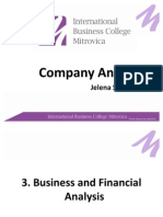 3. Business and Financial Analysis