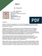 Tusquets Editores - Gödel, Escher, Bach. Sinopsis