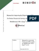 PL 015 - NFS-e Easy - Manual de conversão de dados TXT para XML NFS-e Easy