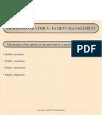 Professional Ethics and Patient Management