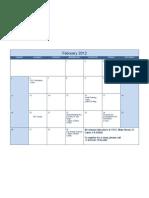 February Class Calendar- El Cajon