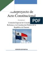 ANTEPPROYECTO CONSTITUCIONAL