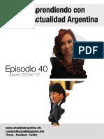 Aprendiendo Con Actualidad Argentina Episodio 40