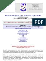 Wes-Gauteng-nuusbrief 2012-01