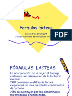 Formulas lácteas