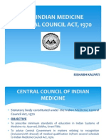The Indian Medicine Central Council Act, 1970