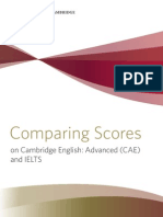 Comparing Scores on CAE and IELTS 05-09-11
