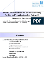 Lkhamsuren Bayarjargal- Recent developments of the laser-heating facility in Frankfurt and at Petra-III